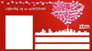Wielkie serce nad Warszawą