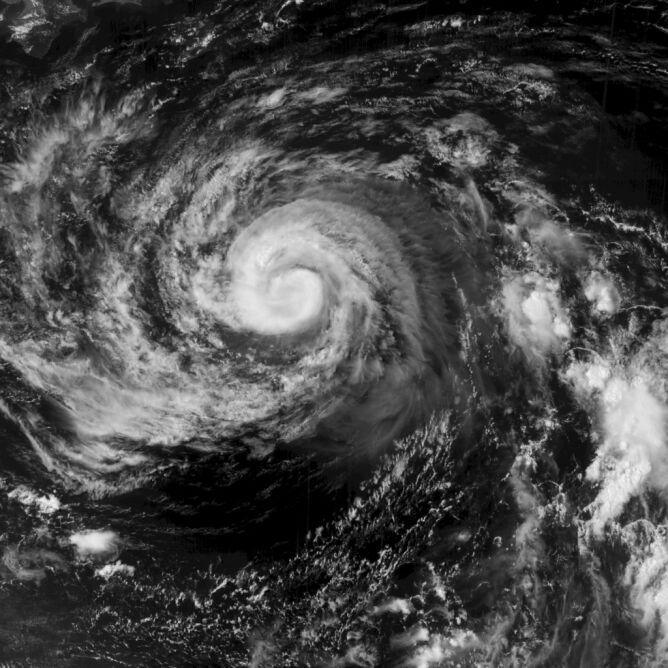 Zdjęcie satelitarne burzy tropikalnej Francisco (Naval Research Laboratory)