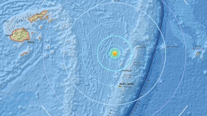Ziemia zatrzęsła się w pobliżu wyspy Tonga