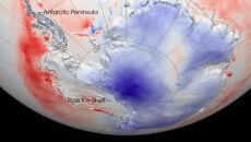 Rekordowe -94,7 stopnie C na Antarktydzie
